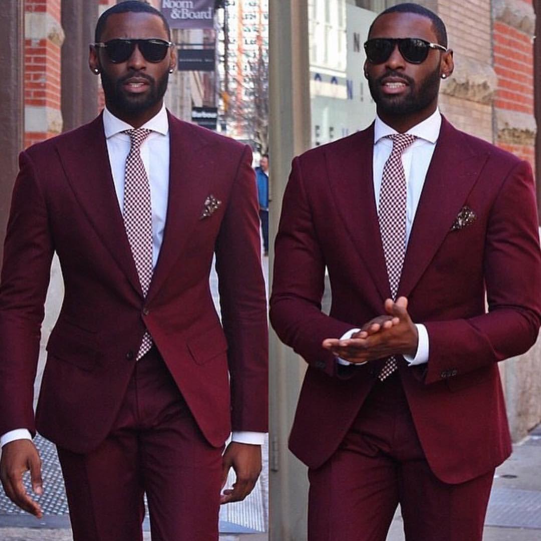 See This Instagram Photo By Darkskin Men 1 445 Likes Burgundy Tuxedo Jacket