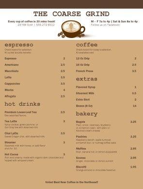 coffee house menu board traditional coffee menu coffee house