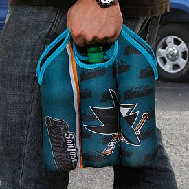 San Jose Sharks Neoprene Bottle Tote for 6-Pack