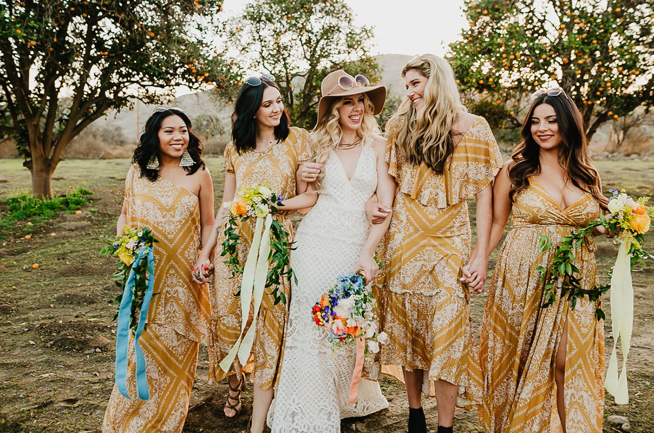 Here Comes The Sun Groovy Mustard Yellow 70s Wedding Inspiration