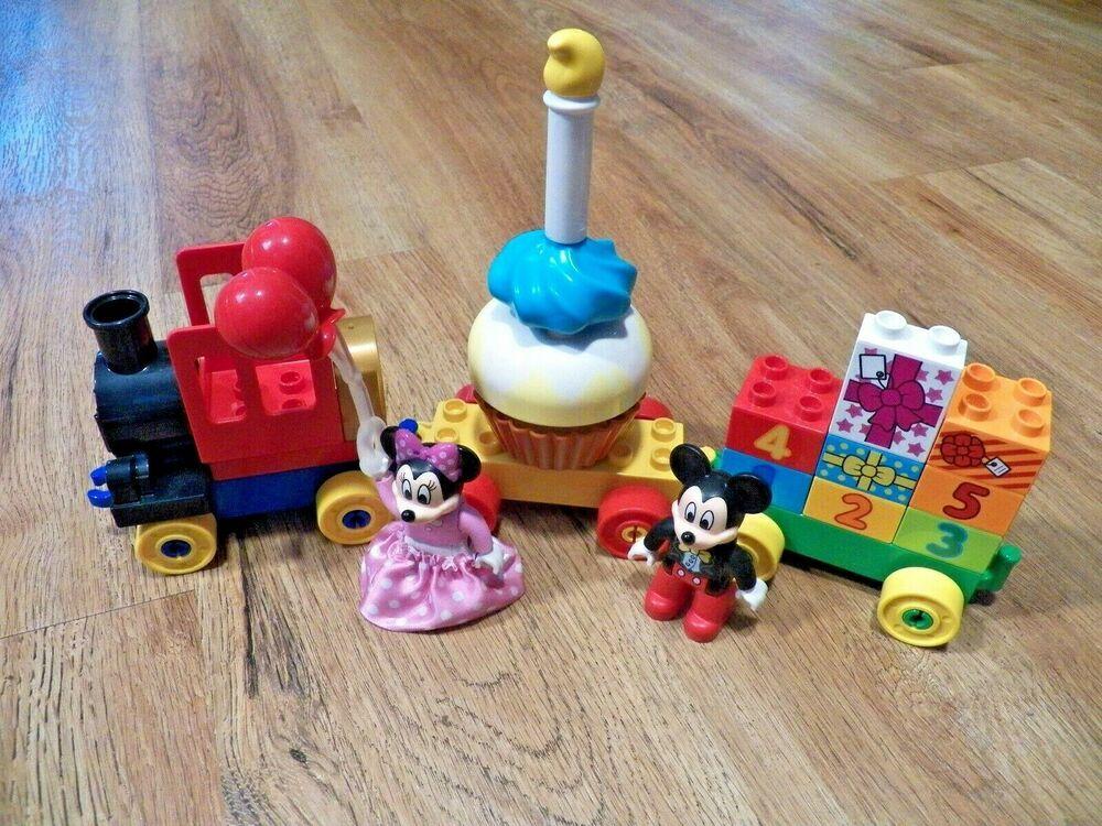 Lego Duplo Disney 10597 Mickey Minnie Mouse Birthday Parade Train Complete Lego Minnie Mouse Birthday Lego Duplo Disney Mickey Mouse Clubhouse