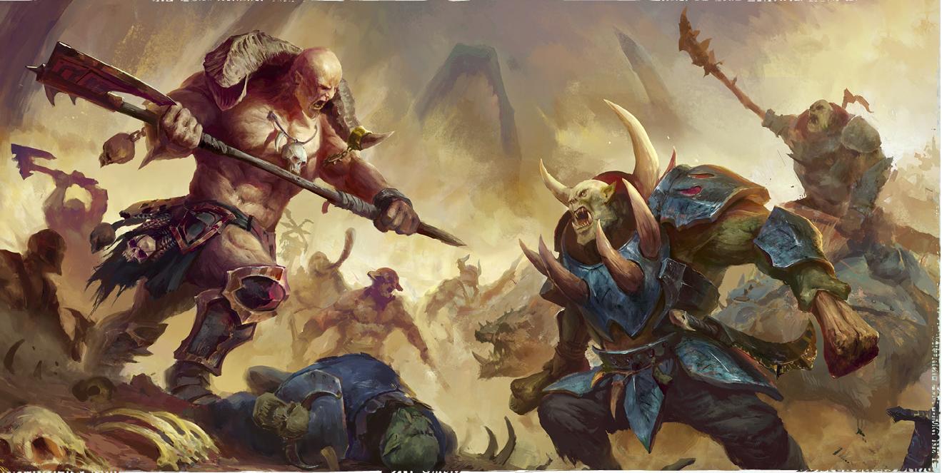 Orruks vs Khorne Bloodbound, par (auteur inconnu), in Age of Sigmar, par Games Workshop