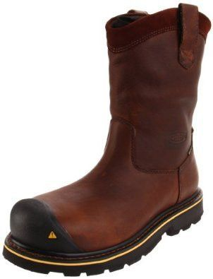 KEEN Utility Mens 1007043D Brown Leather Dallas Wellington Steel Toe Work Boot 9