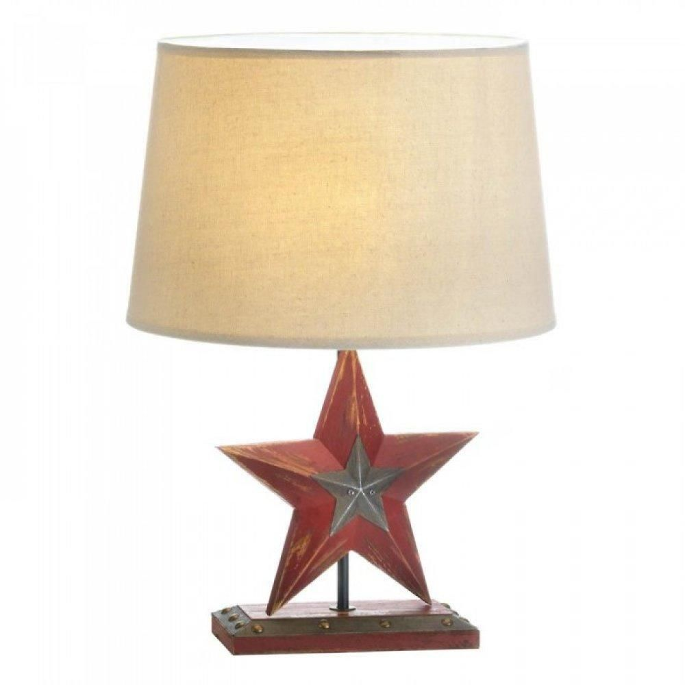 Farmhouse Red Star Table Lamp Farmhouse Lamps Table Lamp Table