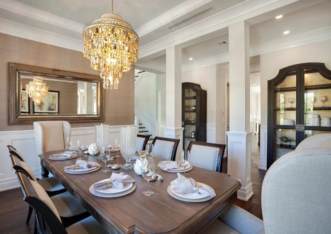 Florida Beach Houses Home Beaches South Dining Room Delray Formal Rooms China Cabinet Elegant Homes
