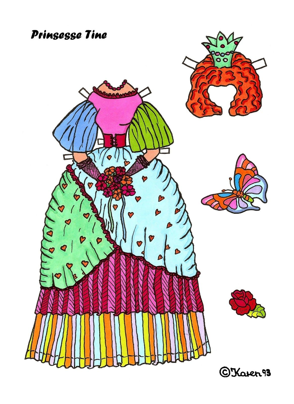 Pin by Marien Rutigliano on Paper doll to color | Pinterest | Dolls ...