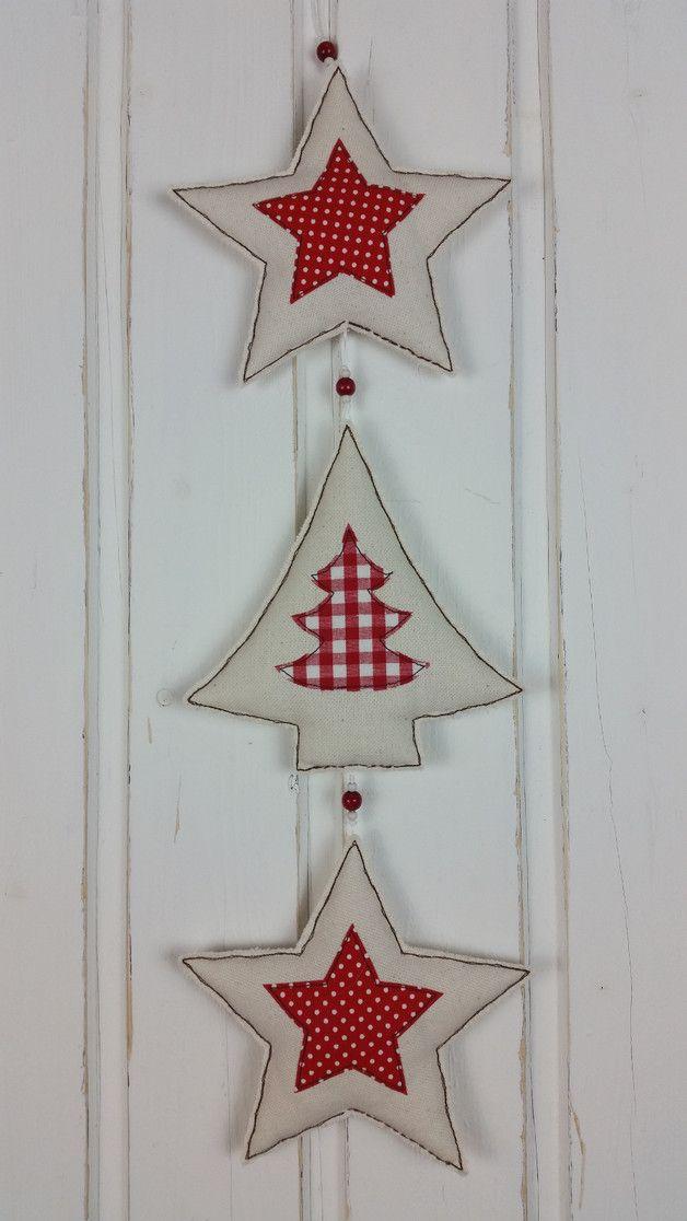 Weihnachtsdeko girlande sterne tannenbaum stoff weihnachten ein designerst ck von mara - Weihnachtsdeko girlanden ...