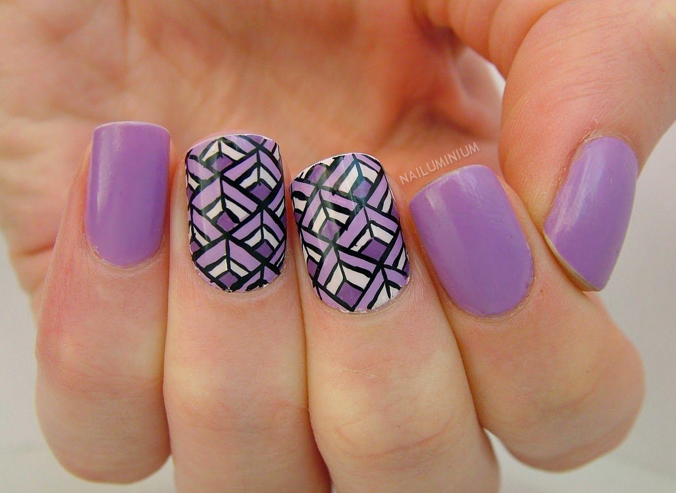 Nailuminium: Lavender Diamonds #nail #nails #nailart
