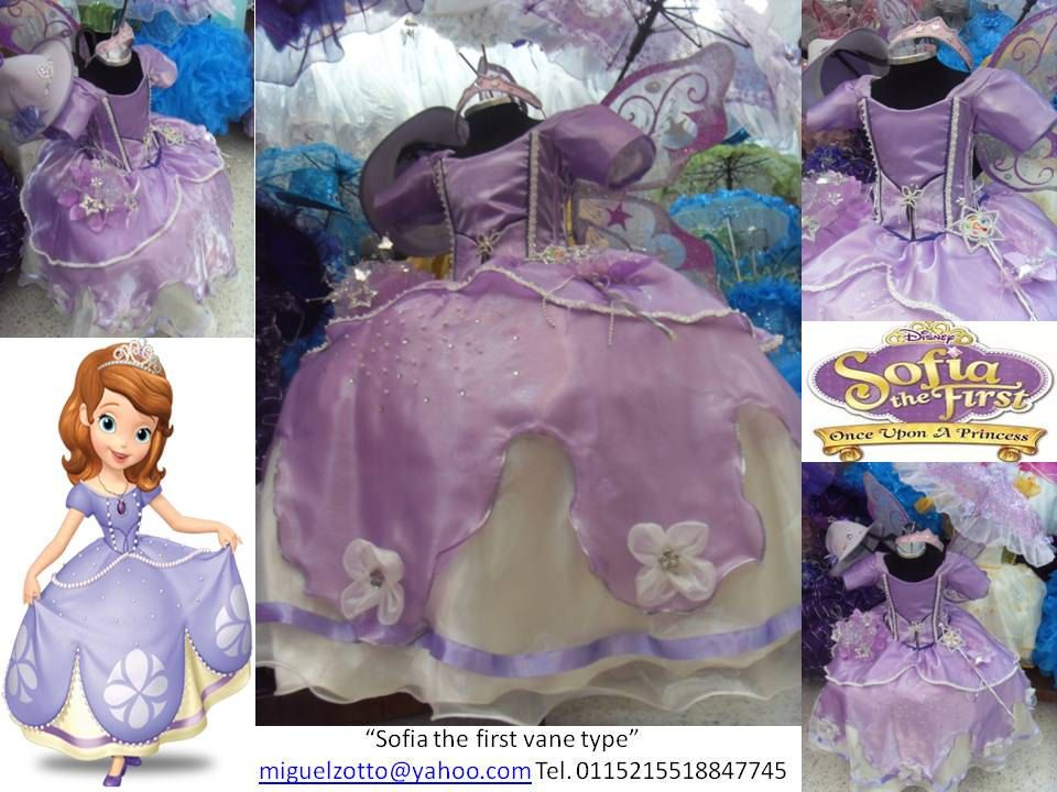 Sofia the First Once Upon A Princess costume dress cosplay dressup amber presentation quince flower girl pageant XV tutu couture purple gown. $115.00, via Etsy.