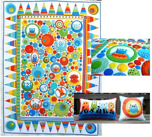 Monster Quilt For Bradys Big Boy Bed Baby Quilts Pinterest