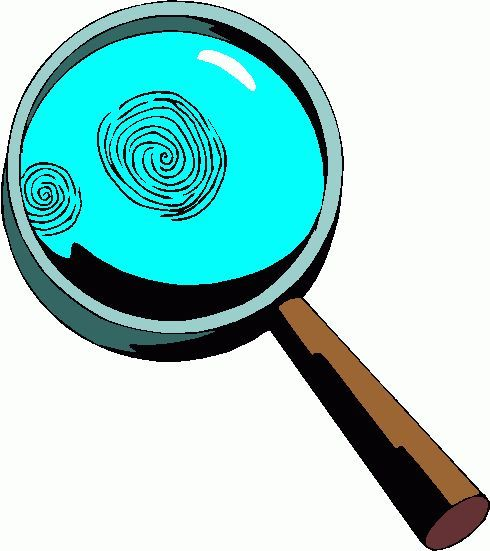 Magnifying Glass With Fingerprint Clipart | Clipart Panda - Free ...