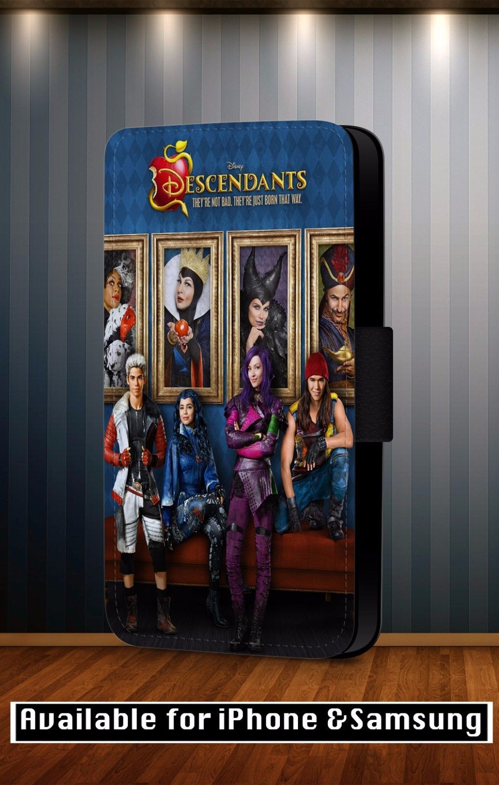 8 99 Gbp Descendants Disney All Characters Poster Faux Leather