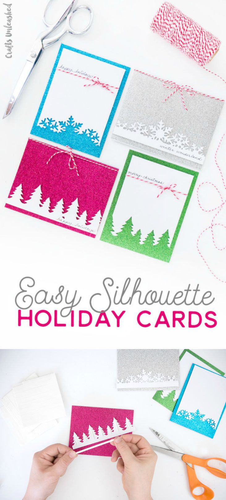 Christmas Card Ideas Simple Silhouette Designs Consumer Crafts