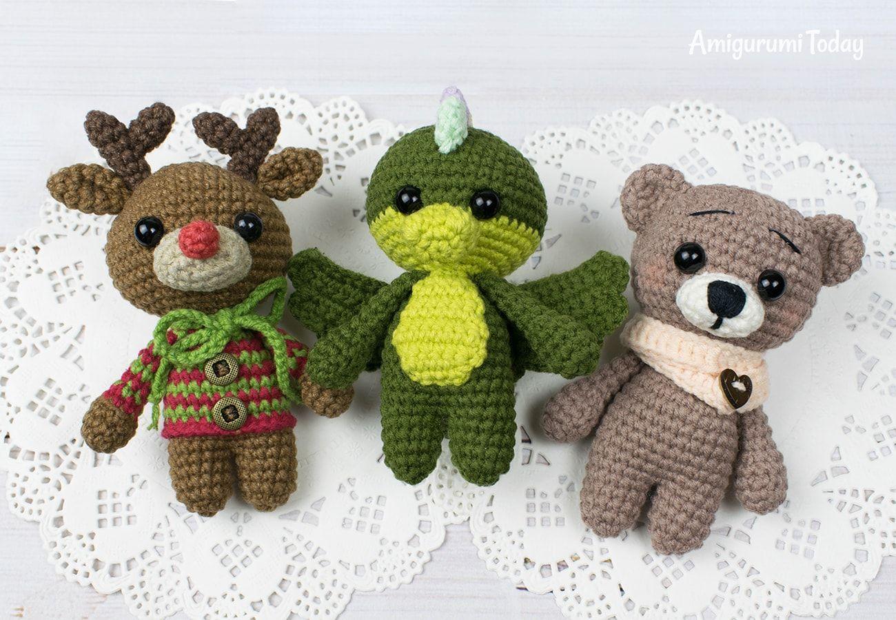 Free tiny crochet animal patterns   Crochet teddy bear pattern ...   900x1300