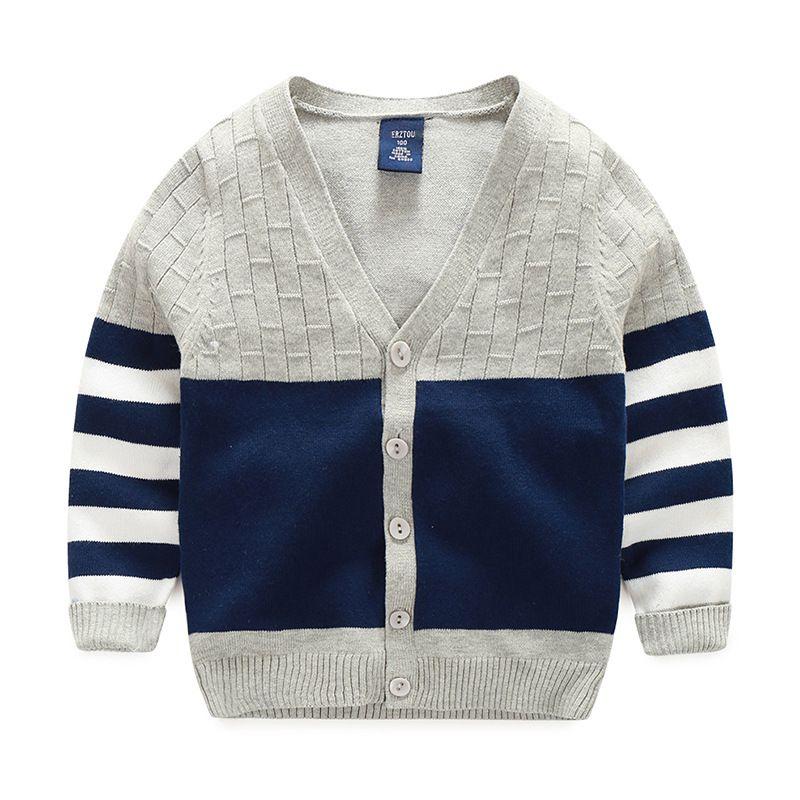 Günstige Neue Junge Pullover Gestreift Baumwolle Top Warme