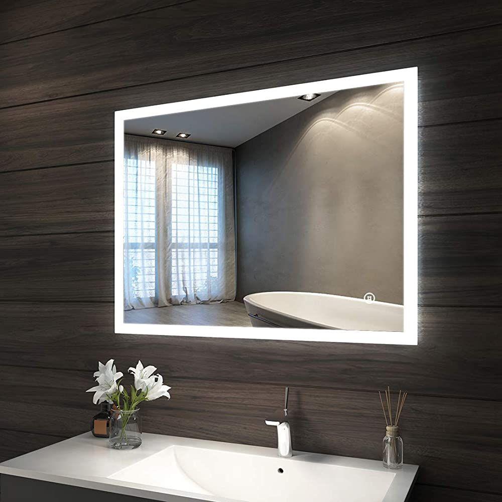 Badspiegel Led Beleuchtung 90 X 70 X 45 Cm Badezimmerspiegel
