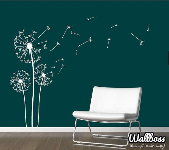 Dandelion Wall Decal   Wall Stickers Blowing Away In The Wind Vinyls Flower  Nature Living Room Bed Room Art On Etsy, 29,84 U20ac .