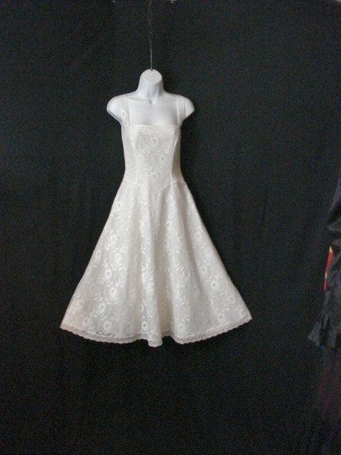 White Lace Dress Vintage Custom Party Wedding by destinationhome, $35.00