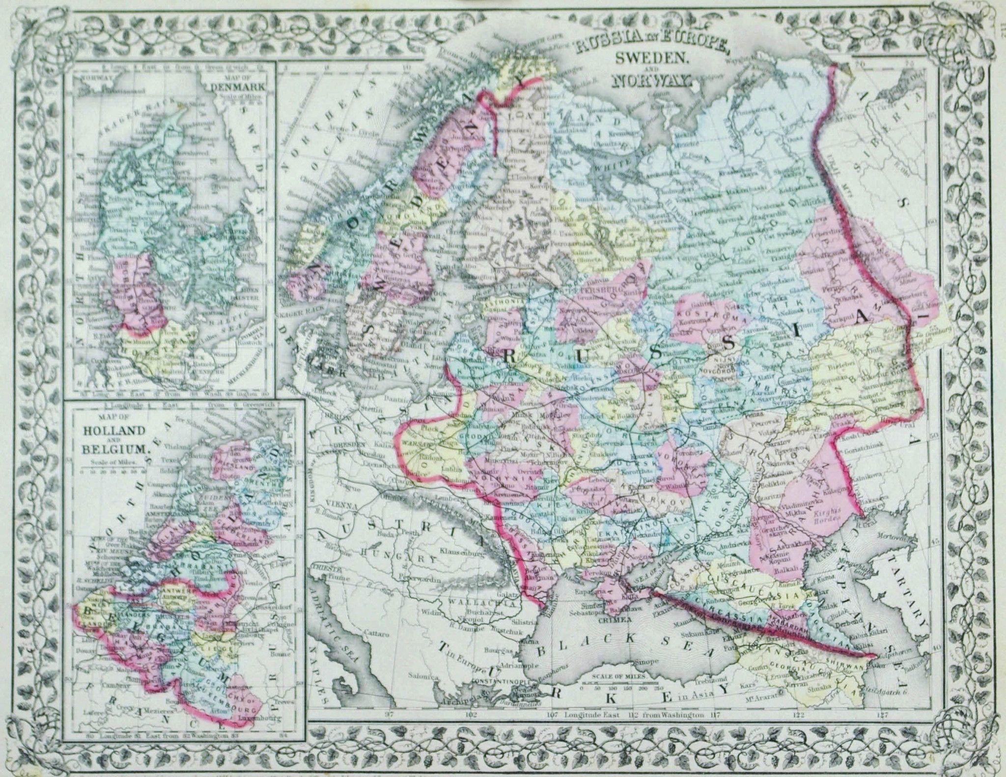 Russia Denmark Holland Belgium Sweden Norway Antique