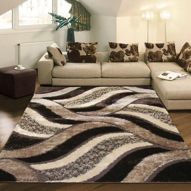 Shaggy Luxury Collection 5328 Brown Rug in 2020   Brown rug, Shaggy rug, Rugs in living room