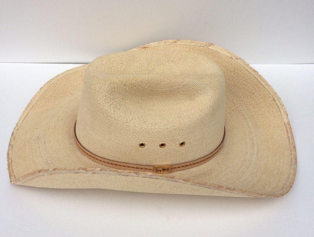 Resistol George Strait Western Cowboy Hat Self-Conforming Straw   Leather 7  3 8 e4a182abc1d