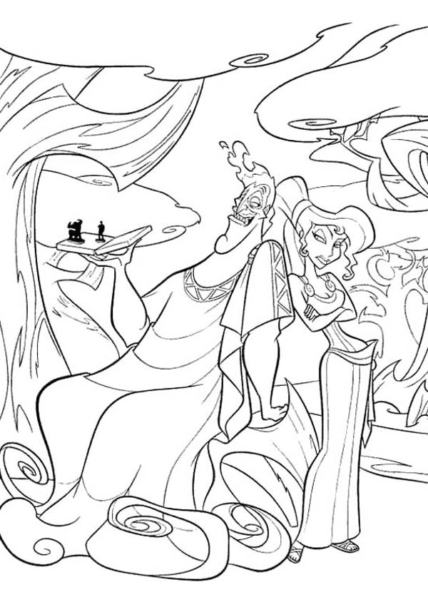 Pictures Of The Evil Hades And Megara Coloring Page Netart In 2020 Disney Coloring Sheets Disney Princess Coloring Pages Disney Coloring Pages