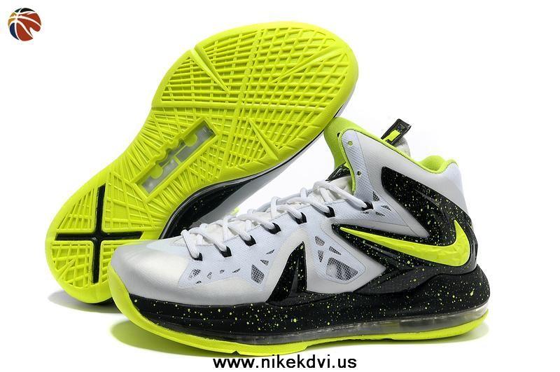 new arrival 3bd1c de4ba Nike LeBron X PS Elite White Volt Black 616116-991