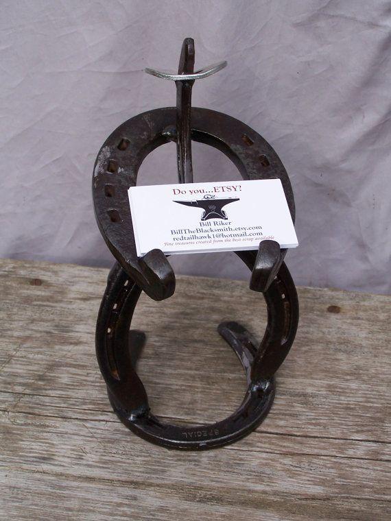 Cowboy Business Card Holder Horseshoes By Billtheblacksmith 27 00
