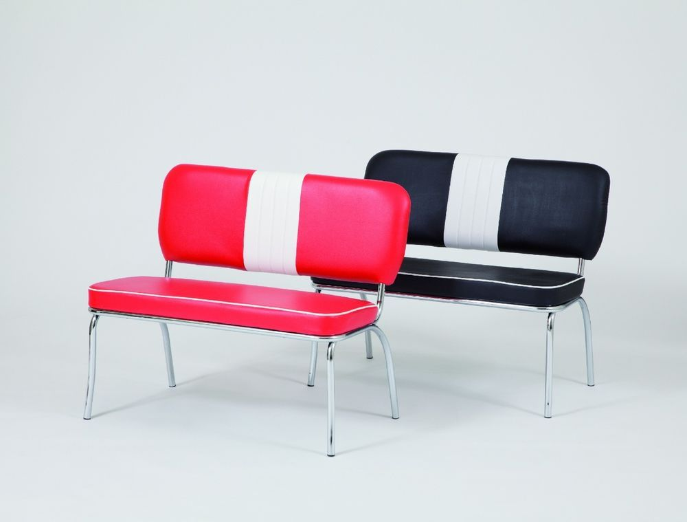 american diner furniture 50s style retro bench red | diners, retro