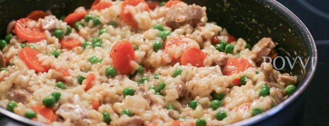Zeleninové rizoto s bravčovým