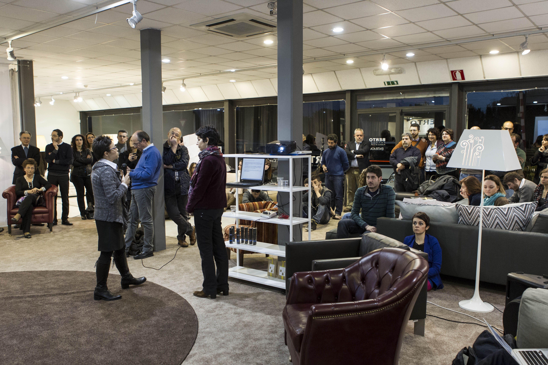 divanoXmanagua and #csr at the Berto Salotti showroom in ...