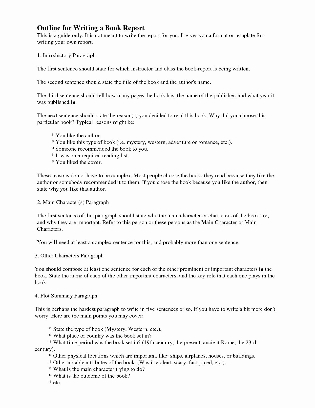 Book Essay Outline New How Do You Write A Report College Introductory Paragraph Of