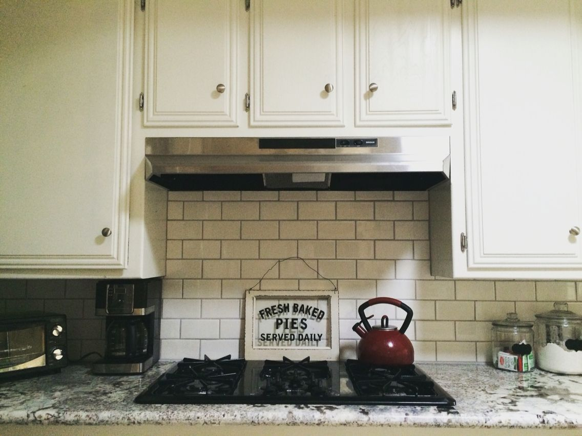 Kitchen Backsplash Grout Color $100 subway backsplash! grout color is 949 silverado | our devoted