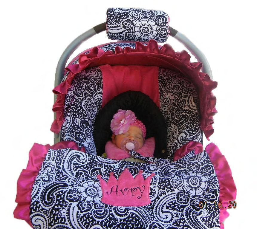 Baby car seat cover girl car seat cover Infant carseat by isewjo ... 454ce450d