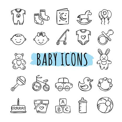 Baby Clip Art Vector Images Amp Illustrations Istock Baby Icon Baby Clip Art How To Draw Hands
