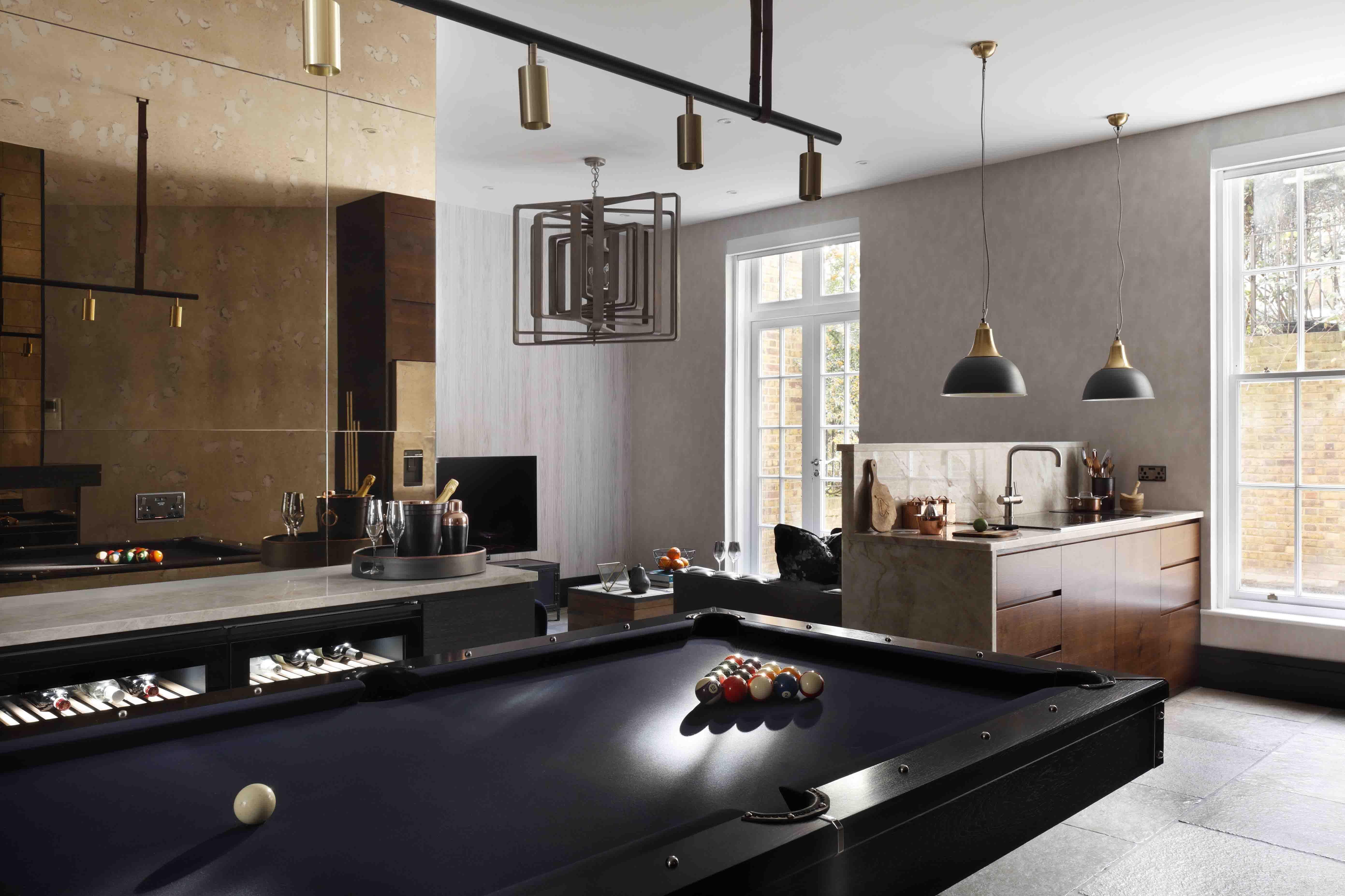 Interior Design Bat Apartment Princess Park Manor Open Plan Living Table Pool