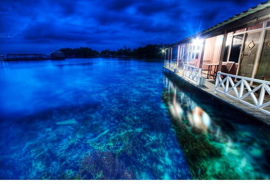 Wisma Apung - Hotel on the sea at Karimunjawa