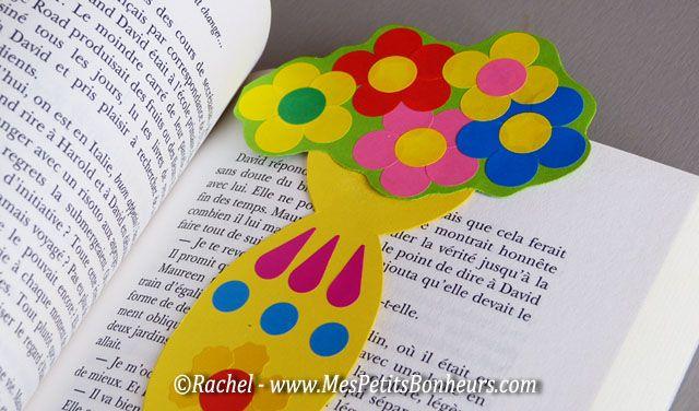 Bricolage fete des meres fleurs marque page f tes des m res pinterest marque page collage - Activite fete des grand mere ...