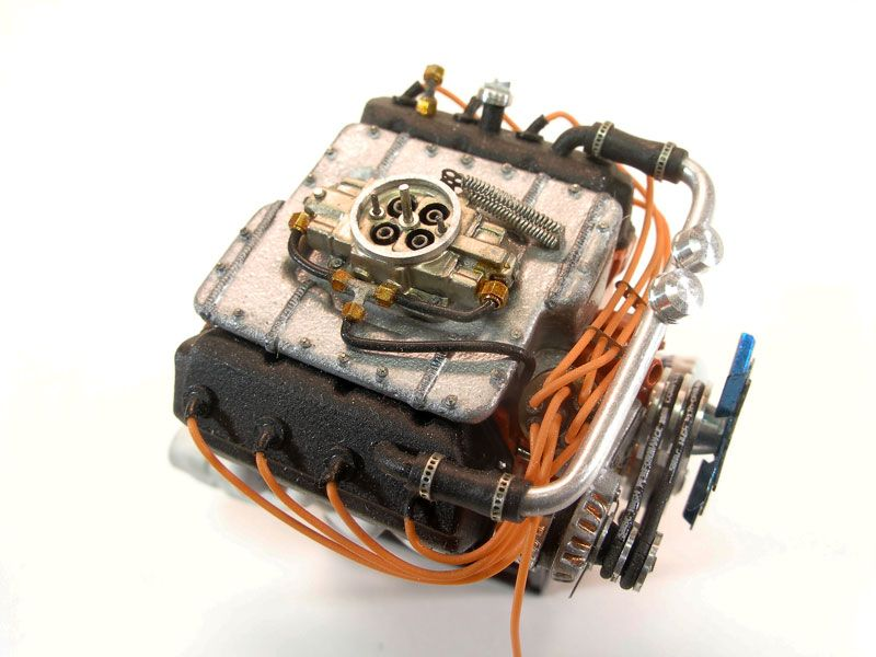 Beautiful detailed Crhysler 426 Hemi engine,1 25 scale