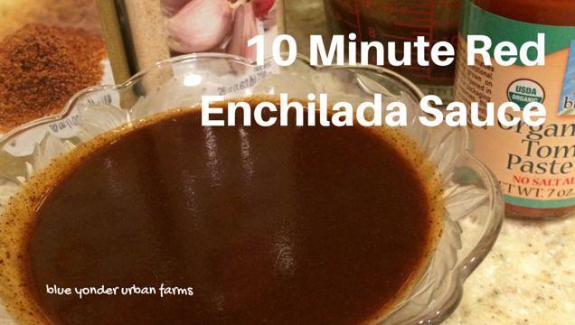 10 Minute Red Enchilada Sauce