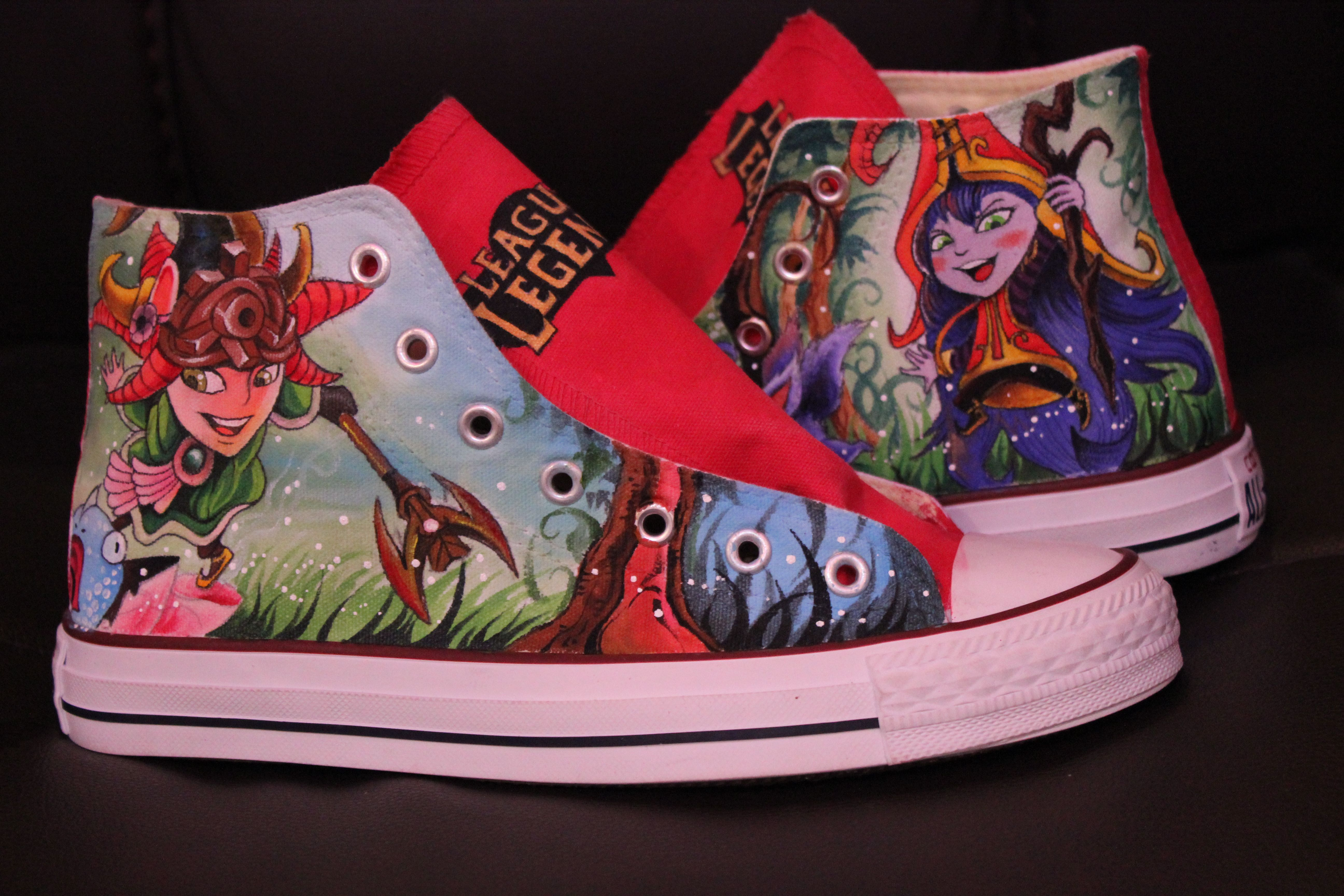 07cb8625e3f5 League of Legends High Top Converse Shoes Custom Converse Painte ...