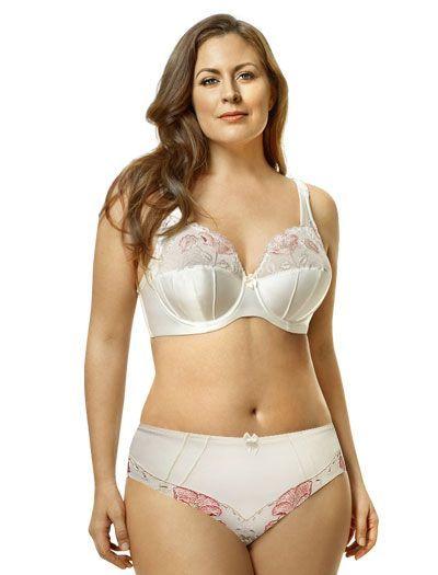 0f781f80ff Elila Glamour Embroidery Underwire Bra 2021 - Antique White