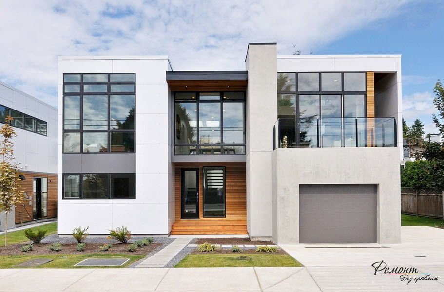 Two Story Modern House With Flat Roof Cool Flat