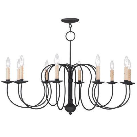 Livex Lighting 4529-04 Heritage Chandelier in Black