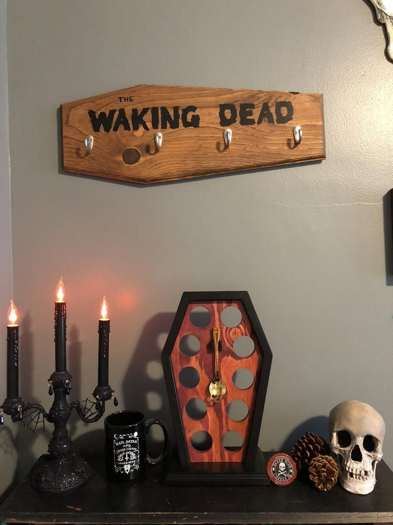 Coffin Shaped Coffe bar signs with hooks for coffe mugs Mug | Etsy