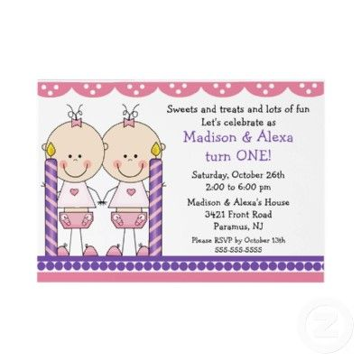 Cute invitation idea - 1st birthday