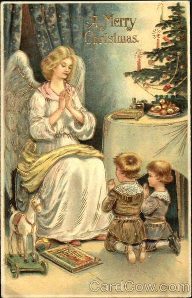 Angel w/Children A Merry Christmas Series 364
