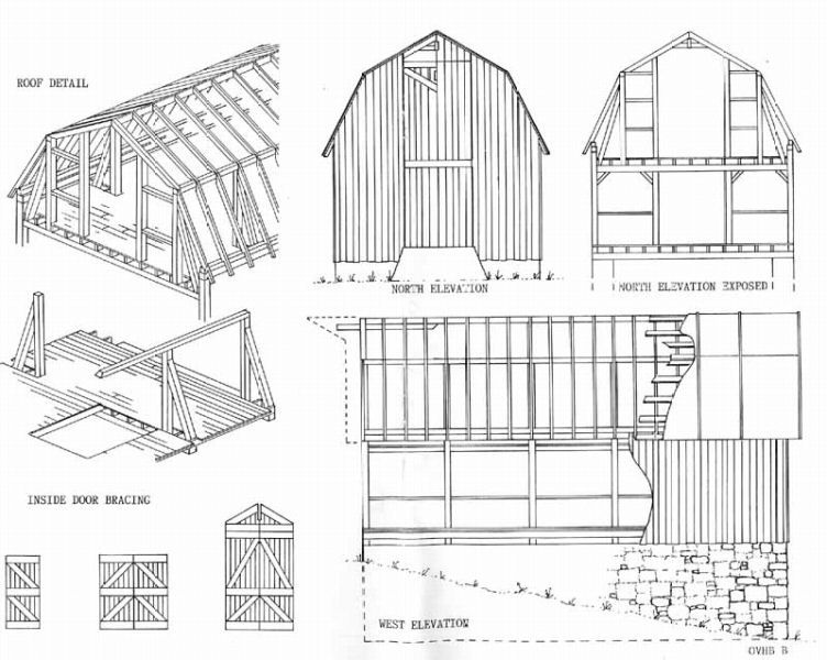 Old barn plans can 39 t remember where i originally found for Dutch barn shed plans