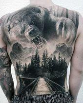 Photo of Mens großer Bär Forest Full Back Tattoo – #Bär #Forest #Full #großer #Mens #…
