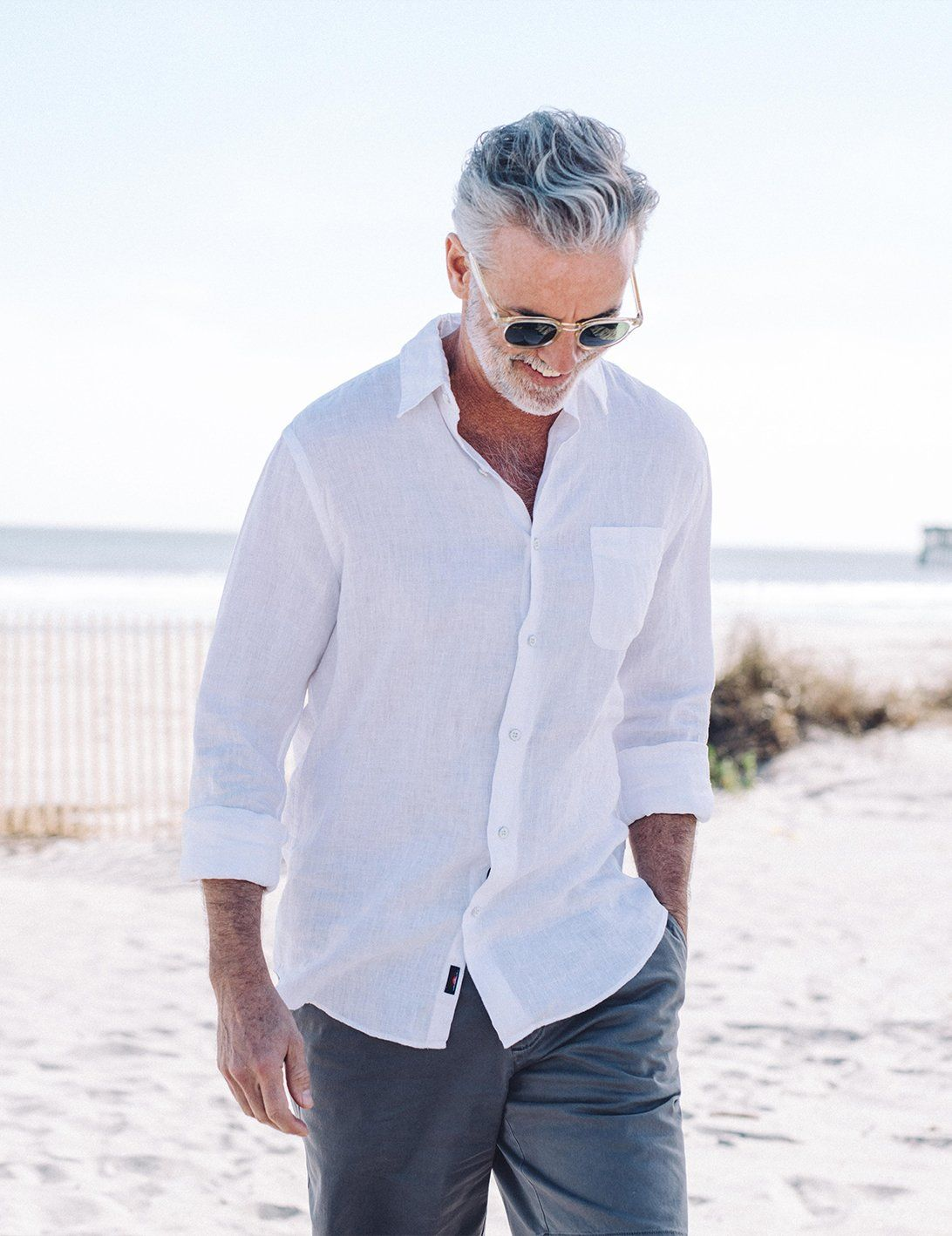Linen Laguna Shirt White Faherty Brand Linen Shirt Men White Shirt Men Mens Linen Outfits [ 1418 x 1092 Pixel ]